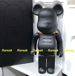 Medicom 2016 Berbrick Porter 80th Anniversary 1000% Orange Black Bearbrick 1pc