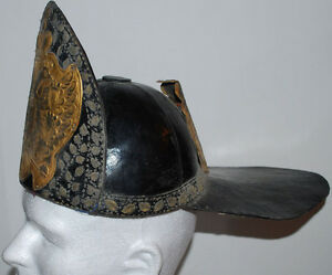 RARE 1720 RUSSIAN IMPERIAL ARMY CZAR PETER I THE GREAT BOMBARDIER HELMET HAT