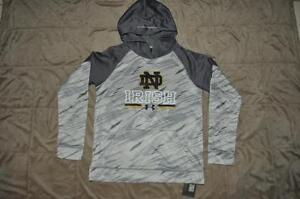 Under Armour Youth NOTRE DAME FIGHTING IRISH Hoodie 1280450 052 Gray NWT
