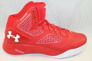 NEW Under Armour Boy's UA ClutchFit Drive 2 Basketball Shoes Red Size 5Y