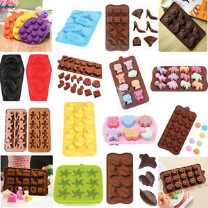 Silicone Mold Chocolate Ice Cube Tray Fondant Molds DIY SOAP Mould Jello Candy $4.59
