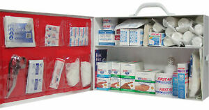 First Aid Handbooktip Metal Kit Emergency Medical Supplies Kits up to 75 persons