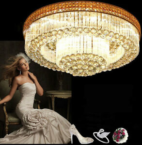 Bright Crystal Light Ceiling circular living room lights LED lamps lighting 9321