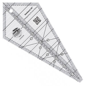 Creative Grids Starburst 30 Degree Triangle Quilt Ruler CGRISE30 $25.49