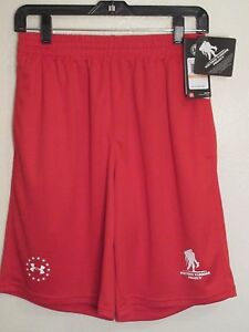 $34.99 NEW Under Armour Wounded Warrior Project Mens Athletic Shorts Small Red