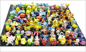 48 PCS MINI POKEMON ACTION FIGURE FIGURINE CAKE TOPPER PARTY FAVOR TOY RANDOM
