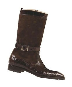 Mauri 4486 Sport Rust AlligatorSuede Knee Boots