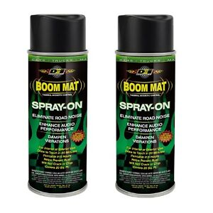 DEI 050220 Set of 2 VibrationNoise Eliminating Boom Mat Spray-On 18 oz. Cans
