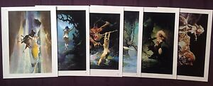 1996 Frank Frazetta Wild Women Lot set of 6 different art print lithographs