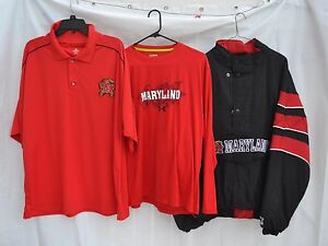 Lot 3 Maryland Terrapins Starter Jacket Knights Polo Shirt - Under Armour Shirt