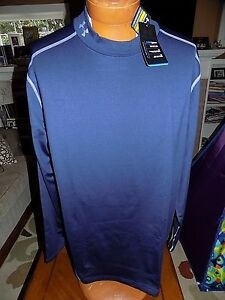 NWT Men's Under Armour Cold Gear Fitted Mock Turtleneck Shirt NAVY  $49.99 XL
