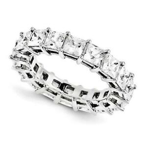 14k White Gold Princess Cut Eternity Design Band Ring 5.00ct GSI1 Made to Order