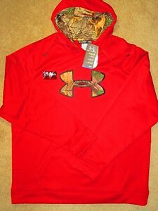 Men's 2XL Under Armour Storm Red & Camo Loose Fit Hoodie 1248019-601 $65