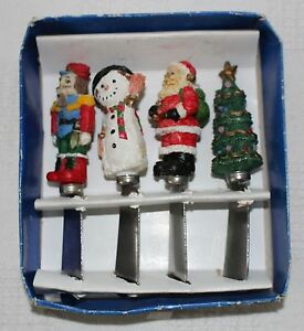 Set of Four Christmas Themed Stainless Steel Party Spreaders