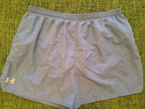 UNDER ARMOUR WOMENS XXL  ATHLETIC SHORTS SKY BLUE LINED EUC
