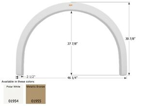 Fleetwood Single RV Fender Skirt FS1954, Polar White