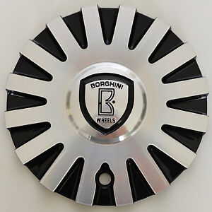 B22 Borghini Wheel Center Cap part # CSB22 1A Aluminum