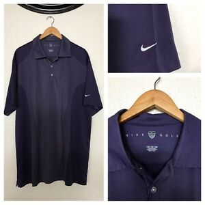 NEW! Nike Golf Fit Dry Short Sleeve 14 Buttons  Polo Shirt Vented Mens XXL.