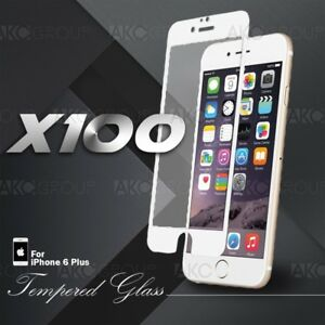 100x White Full Cover Tempered Glass Screen Protector For IPhone 6S 6 Plus 5.5
