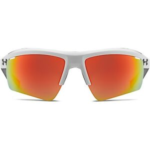 Under Armour Core 2.0 Sunglasses Shiny White  Orange