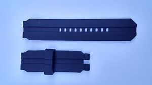 Silicone Rubber Watch Band Strap For Oakley Gearbox - BLACK *** NEW ***