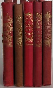 CHARLES DICKENS The Christmas Carol & 4 other Christmas Books SET OF 5 FIRSTS