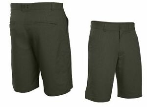 UNDER ARMOUR UA FLAT FRONT GOLF SHORTS 1254347 308 THIN STRIPE GREEN (MEN'S 34)