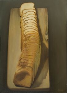 Oil on Canvas Original Signed Painting by Daniel Sergio Sliced Bread $1,500.00