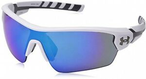 Under Armour Rival 8600090-110961 Shield Sunglasses Satin WhiteCharcoal Gray