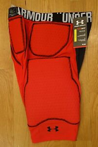 NWT UNDER ARMOUR MPZ PADDED SHORTS GIRDLE RED COMPRESSION FIT MENS XLARGE