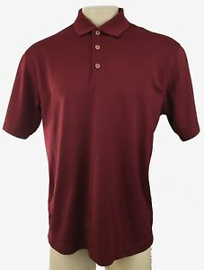 NIKE C4 Mens Red Burgundy Golf Athletic Fit Dry Polo Shirt Size L