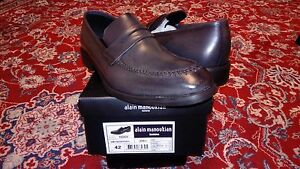Alain Manoukian Men Black Designer Dress Shoes Size 8.5 US - 42 EU New