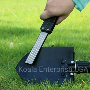 Outdoor Knife Sharpener Sharpening Stone Double Sided Folded Pocket Knives Tools