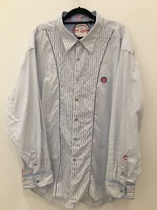 Robert Graham Chicago Cubs Mens Button Down 4XL Sport Shirt Long Sleeve Baseball