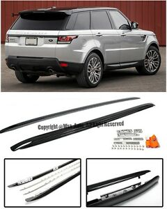 Side Roof Rail Cross Bar Top Luggage Carrier Black For 14-Up Range Rover Sport