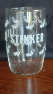 Little Stinker Glass Cup Tumbler Skunk Funny