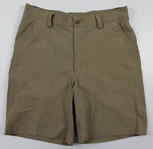 Under Armour Bent Grass Loose Golf Shorts MENS 34 Khaki Stretch Nylon