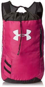 Under Armour Trance Sackpack Drawstring Bag Tropic Pink Backpack Gym Travel