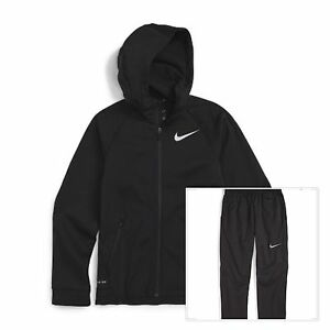 Nike Boys Therma Dry-fit Hoodie and Pants Set Size 6 Charcoal Grey Tech Fleece
