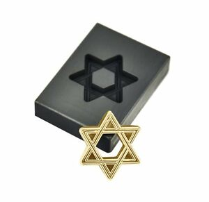 1 oz Troy Ounce Star of David Hexagram Gold Graphite Ingot Mold For Melting Gold
