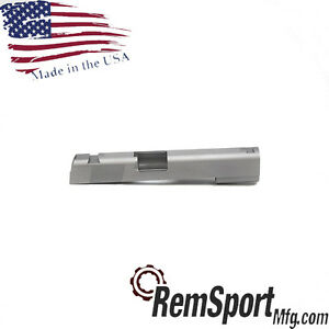 1911 .45 Government Stainless Slide with Rear and Top Serrations Slab Side