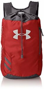 Under Armour Trance Sackpack Drawstring Bag Red Backpack Gym Sport Travel