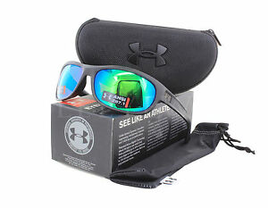 NEW Under Armour Capture Storm Ansi Black Copper Polar Green Mirror Sunglasses