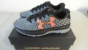 New Boy's Under Armour BGS Clutchfit Rebel Speed BlkOR Canvas Sneakers Size 6.5
