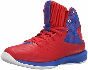 Boys Under Armour Rocket Basketball Shoes Rocket RedTeam RoyalWhite Size 7 M