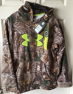 Under Armour Hunt Youth Boy's ScentControl Camo Hoodie CG #1248041 Sz YLG NWT