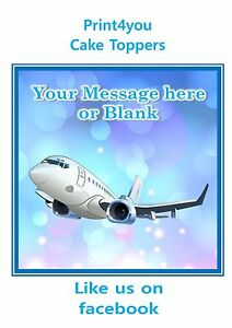 ND2 airplane aeroplane personalised Square cake topper icing sheet