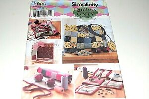 Simplicity Pattern # 5829 Quilted Sewing amp; Class Accessories 10 Items NEW $7.99