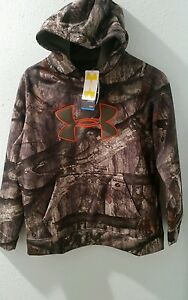 Under Armour Fleece Camo Big Logo Hoodie Boy's L Camo Hoody New with Tags