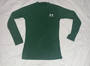 Under Armour green long sleeve shirt for boys size Youth Large EUC